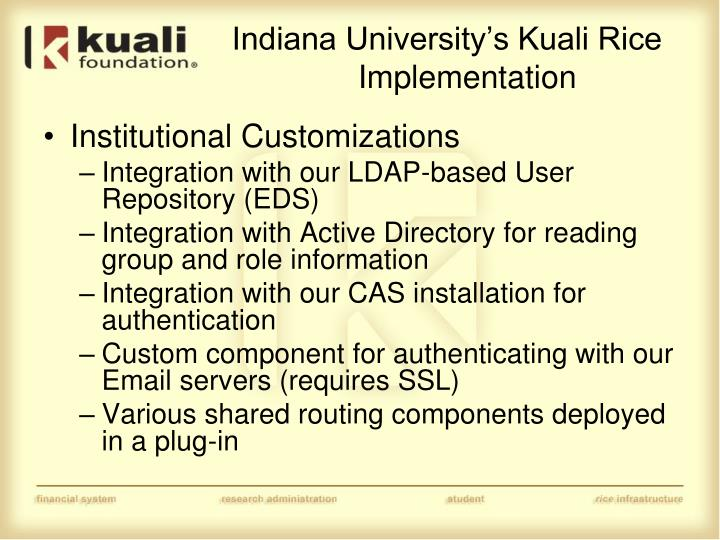 Indiana University's Kuali Rice Implementation