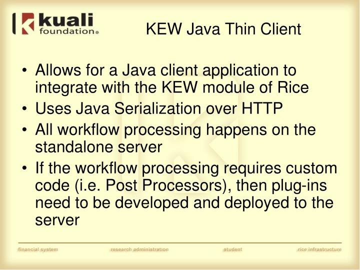 KEW Java Thin Client