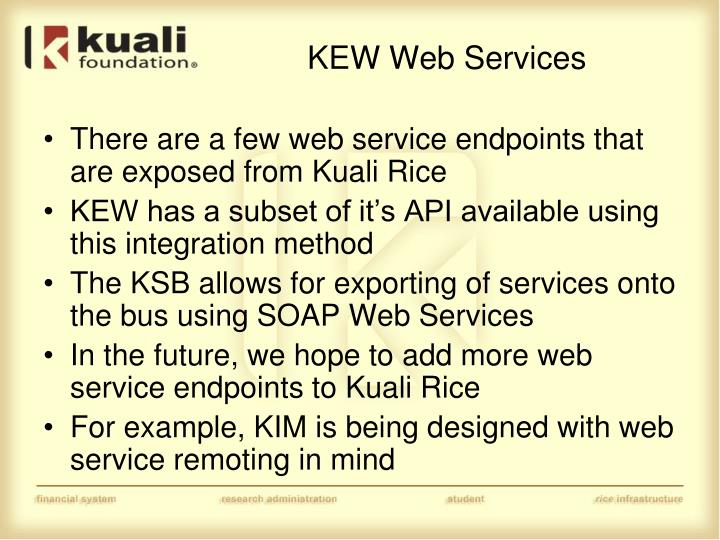 KEW Web Services