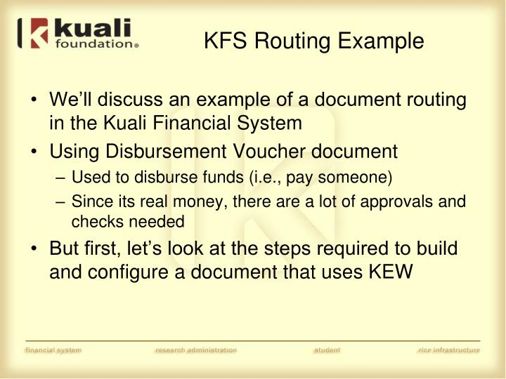 KFS Routing Example