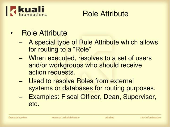 Role Attribute