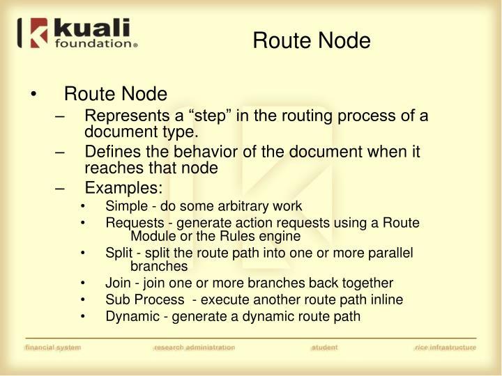 Route Node