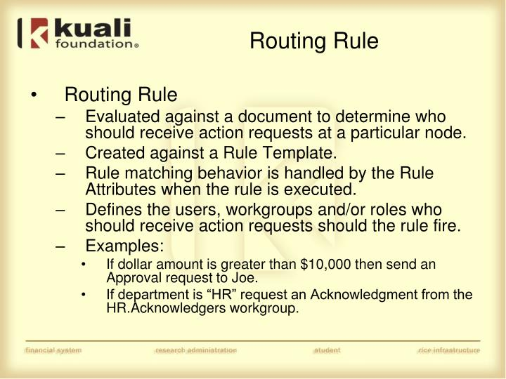 Routing Rule
