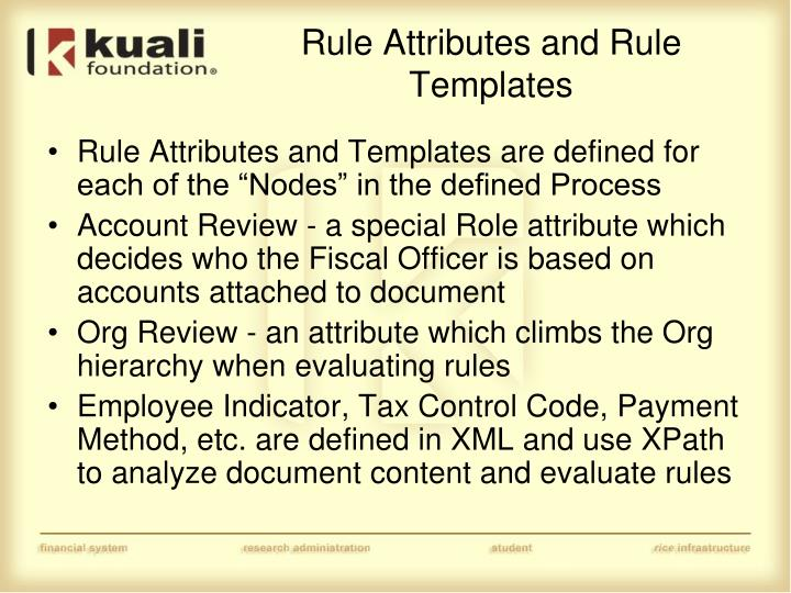 Rule Attributes and Rule Templates