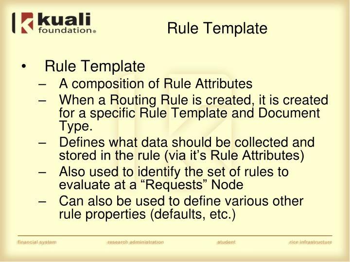 Rule Template