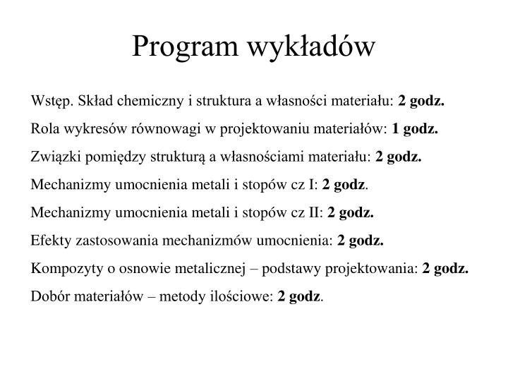 Program wyk ad w