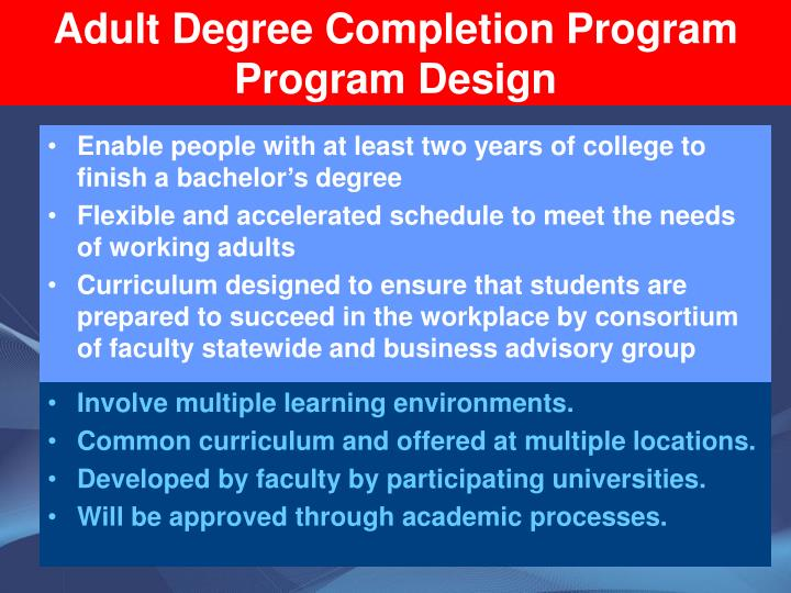 Adult Degree Completion Program