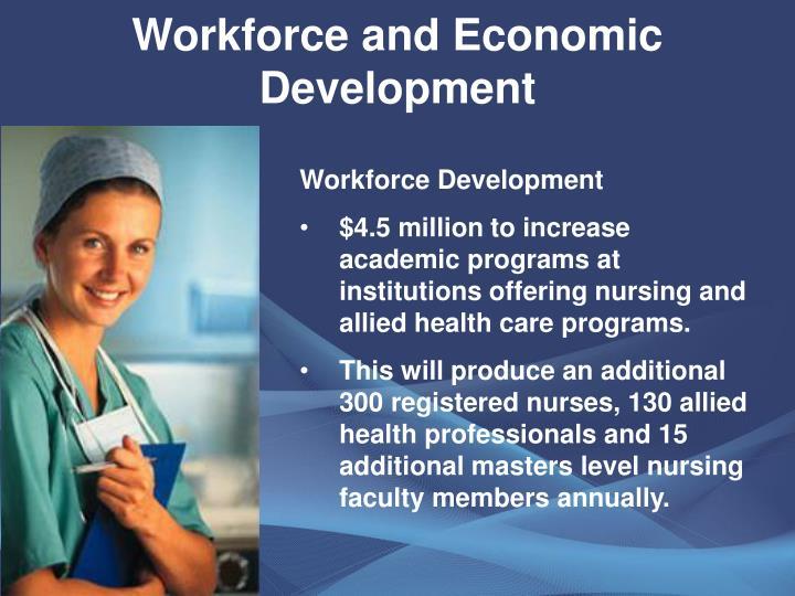 Workforce and Economic Development