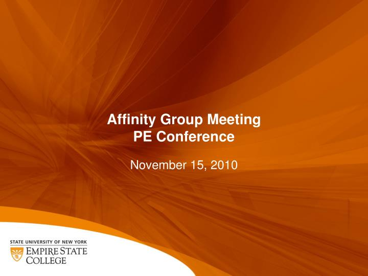 Affinity Group Meeting