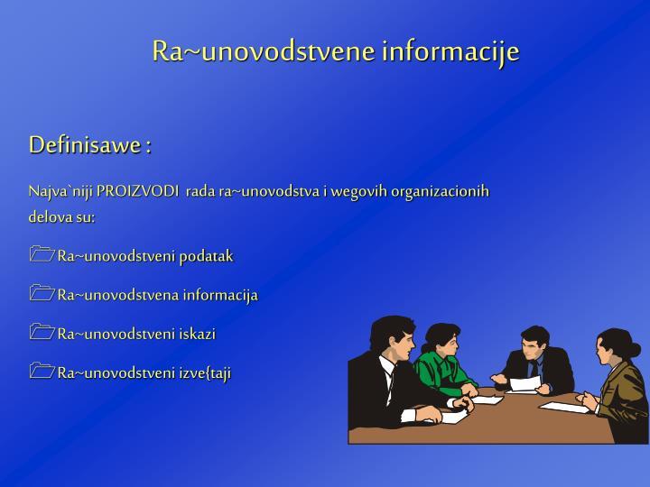 Ra~unovodstvene informacije