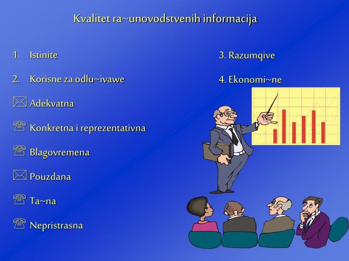 Kvalitet ra~unovodstvenih informacija