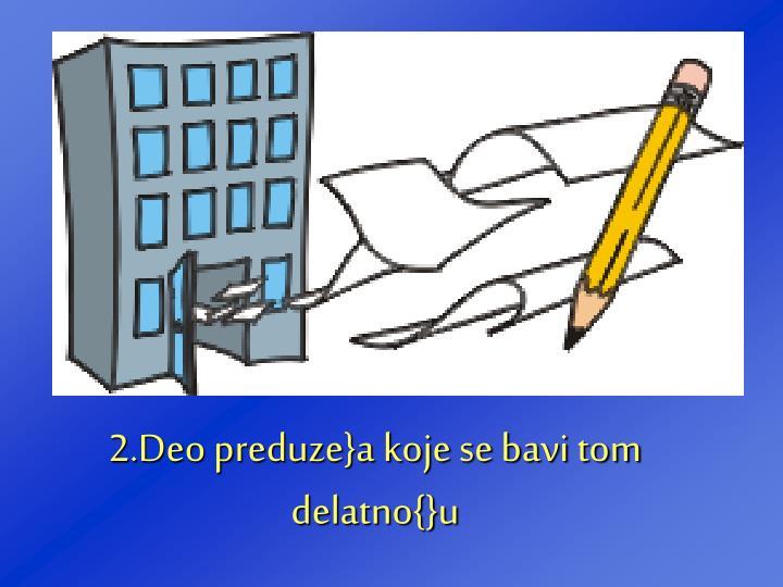 2.Deo preduze}a koje se bavi tom delatno{}u