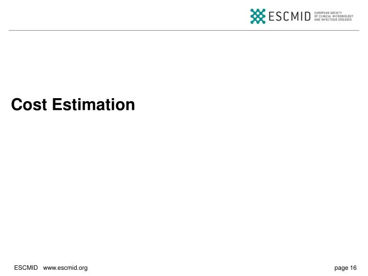 Cost Estimation