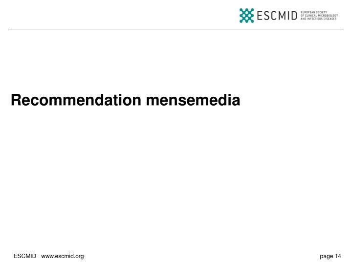 Recommendation mensemedia
