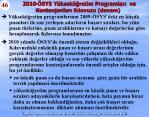 2010 sys y ksek retim programlar ve kontenjanlar k lavuzu devam