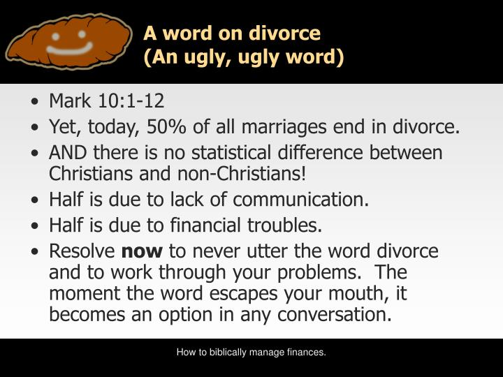 A word on divorce