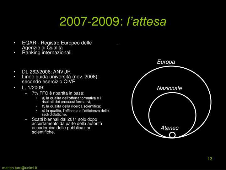 EQAR - Registro Europeo delle Agenzie di Qualità