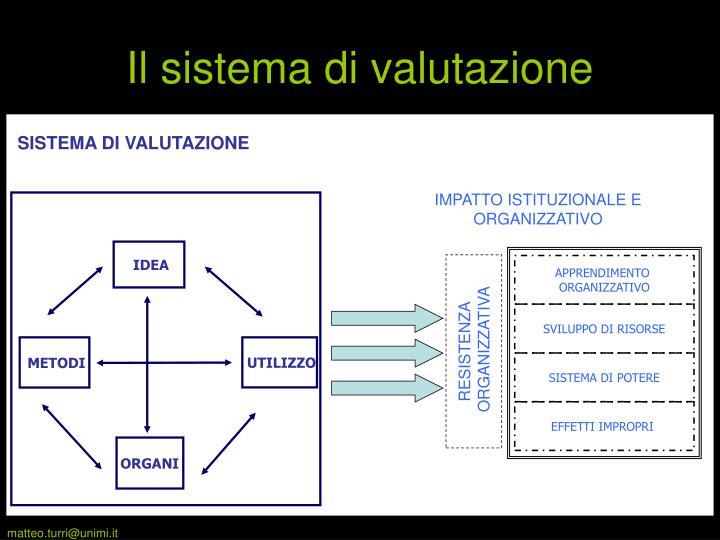 Il sistema di valutazione