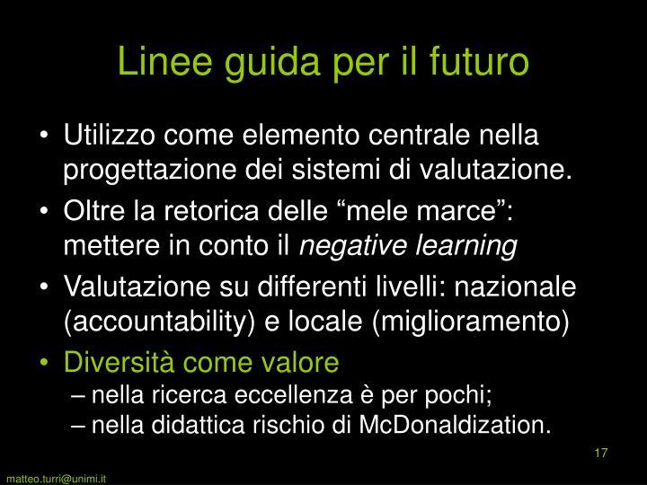 Linee guida per il futuro