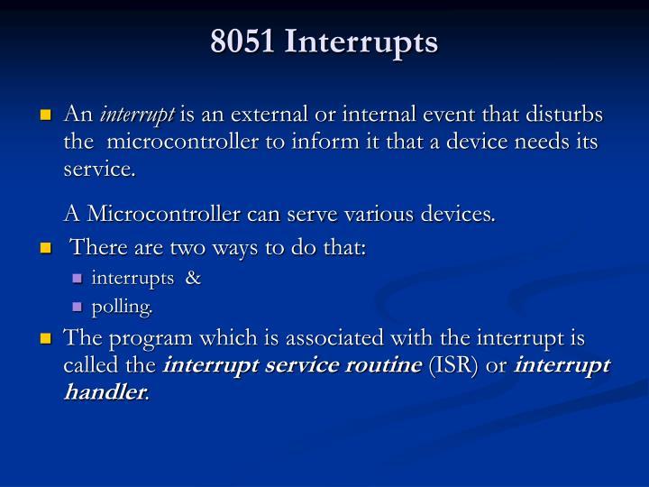 8051 Interrupts