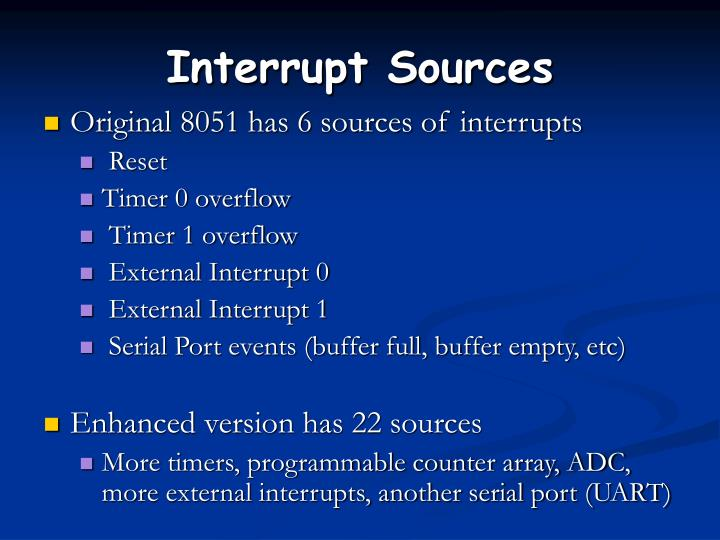 Interrupt Sources
