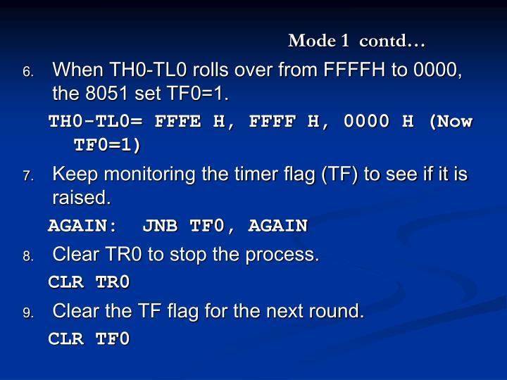 Mode 1  contd…