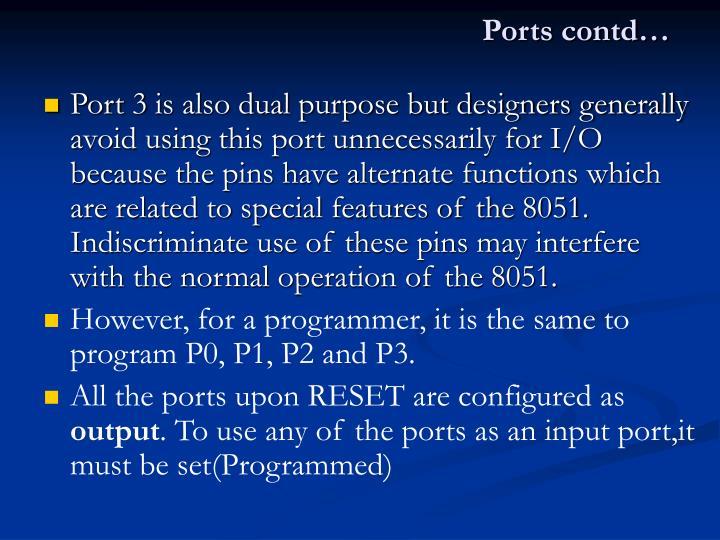 Ports contd…