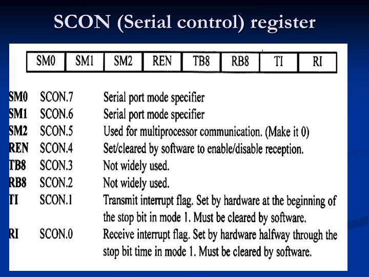 SCON (Serial control) register