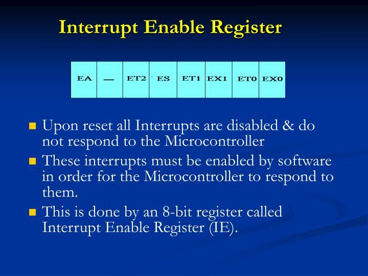 Interrupt Enable Register