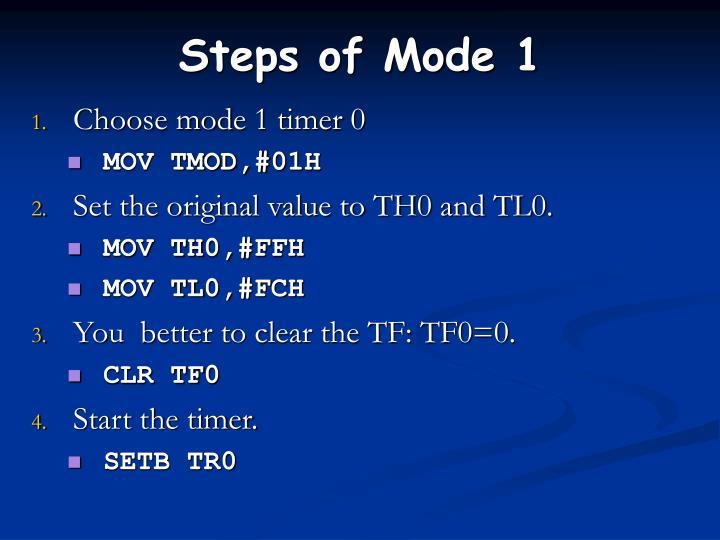 Steps of Mode 1