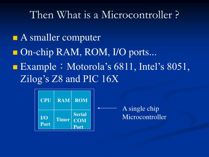Then What is a Microcontroller ?