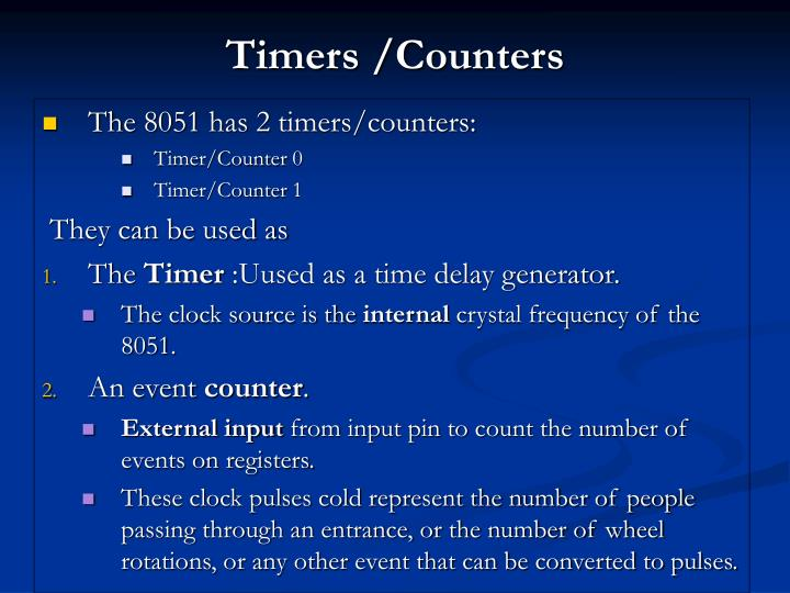 Timers /Counters