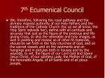 7 th ecumenical council