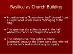 basilica as church building