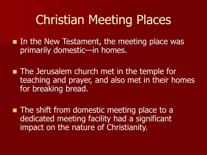 Christian meeting places