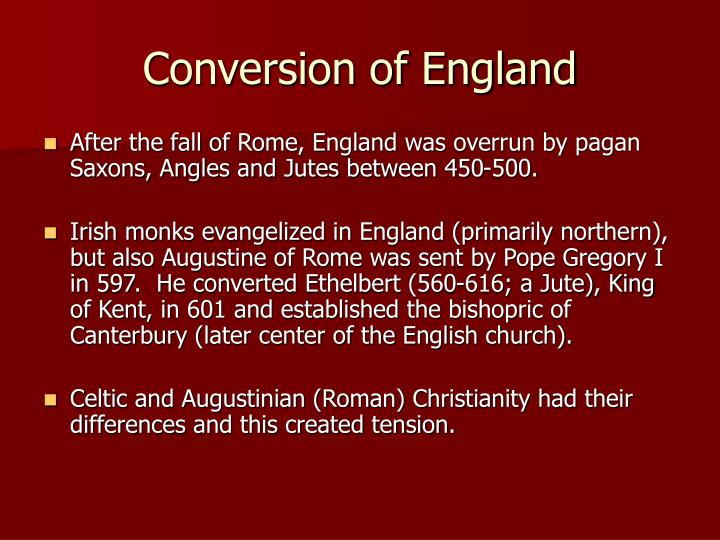 Conversion of England