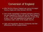 conversion of england
