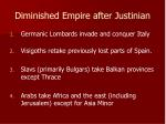 diminished empire after justinian