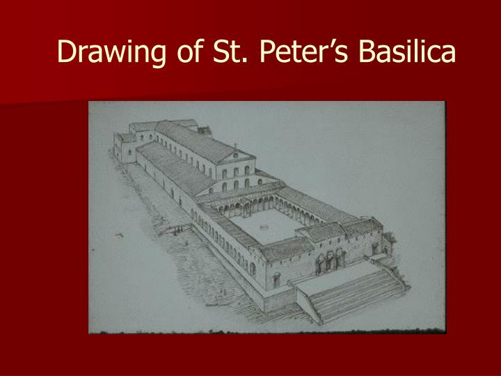 Drawing of St. Peter's Basilica