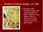 earliest christian mosaic ca 300