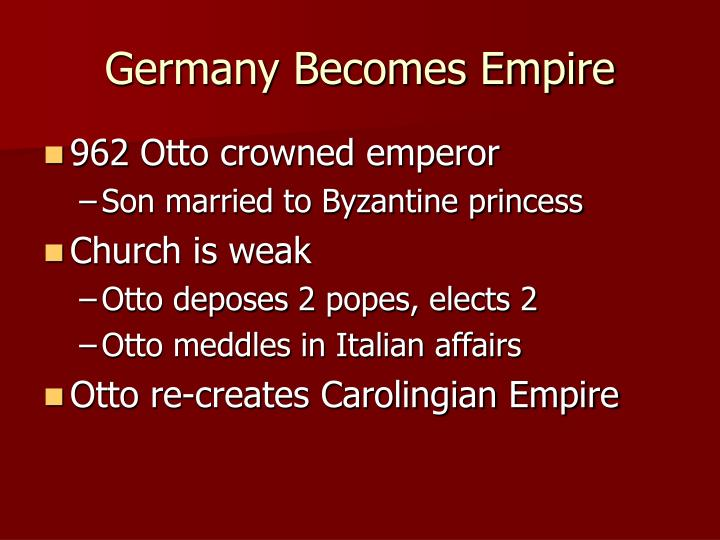 Germany Becomes Empire