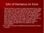 john of damascus on icons
