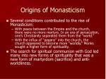 origins of monasticism