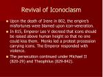 revival of iconoclasm