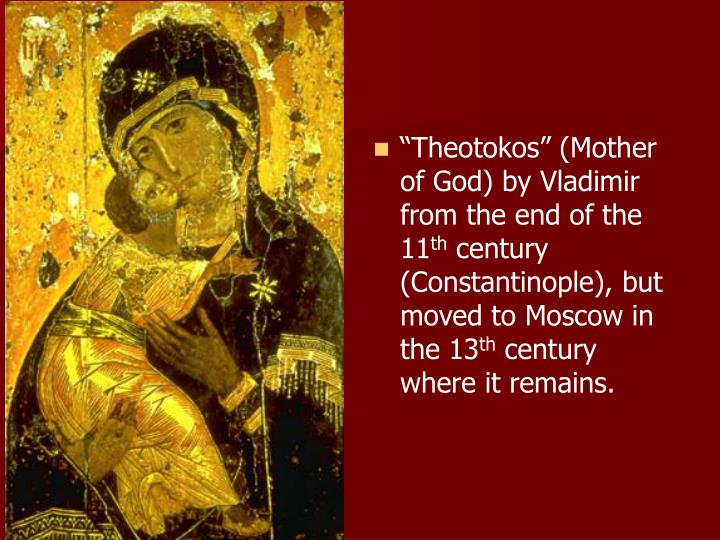 """Theotokos"" (Mother of God) by Vladimir from the end of the 11"