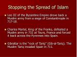 stopping the spread of islam
