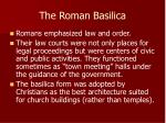 the roman basilica