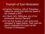 triumph of icon veneration
