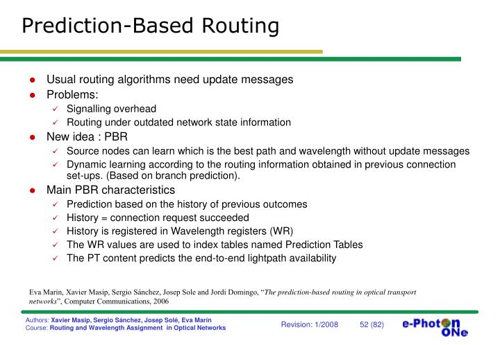Prediction-Based Routing