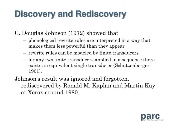 Discovery and Rediscovery